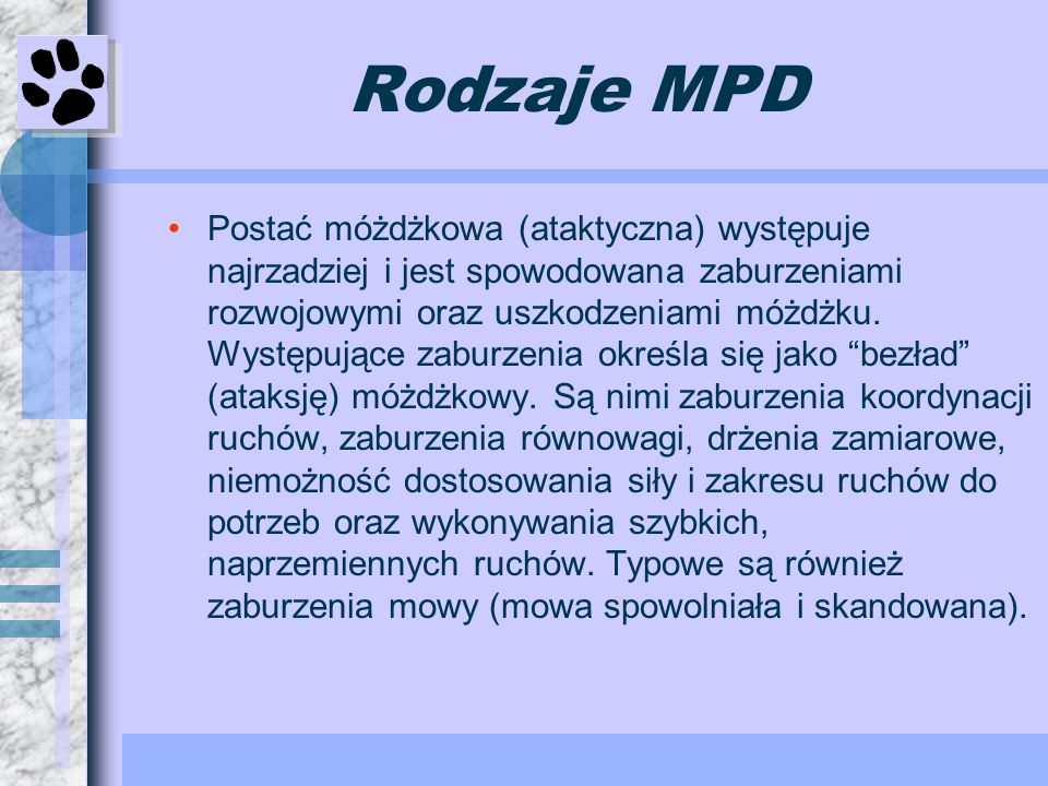 Rodzaje MPD