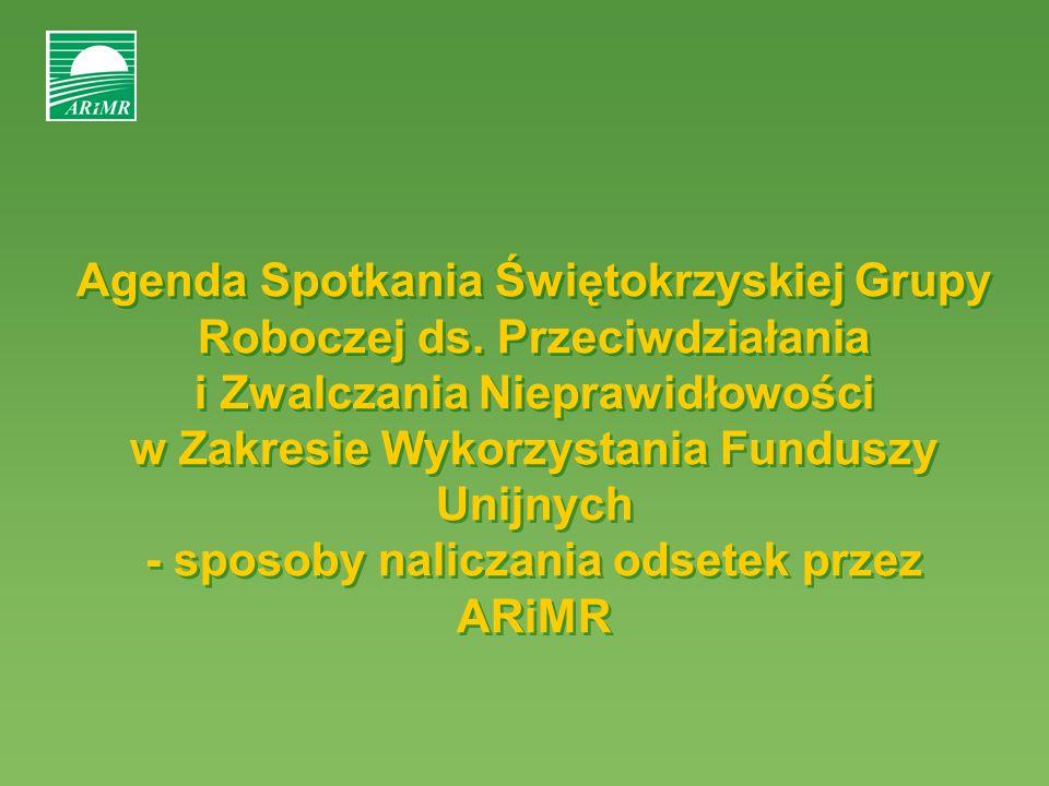 Agenda Spotkania Świętokrzyskiej Grupy Roboczej ds