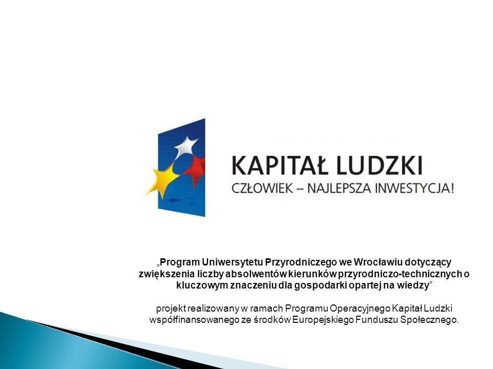 """""""Program Uniwersytetu Przyrodniczego we Wrocławiu dotyczący zwiększenia liczby absolwentów kierunków przyrodniczo-technicznych o kluczowym znaczeniu dla gospodarki opartej na wiedzy"""