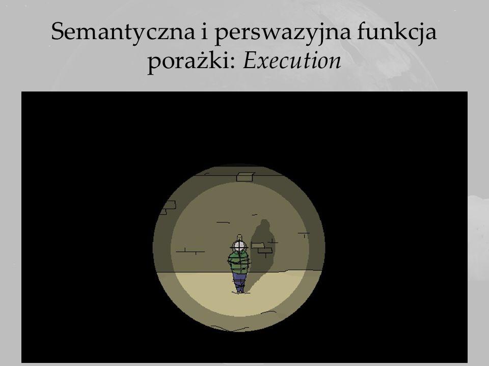 Semantyczna i perswazyjna funkcja porażki: Execution