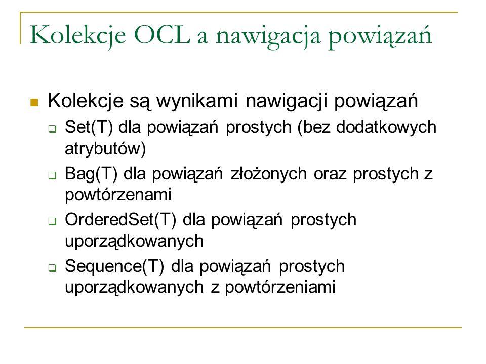 Kolekcje OCL a nawigacja powiązań