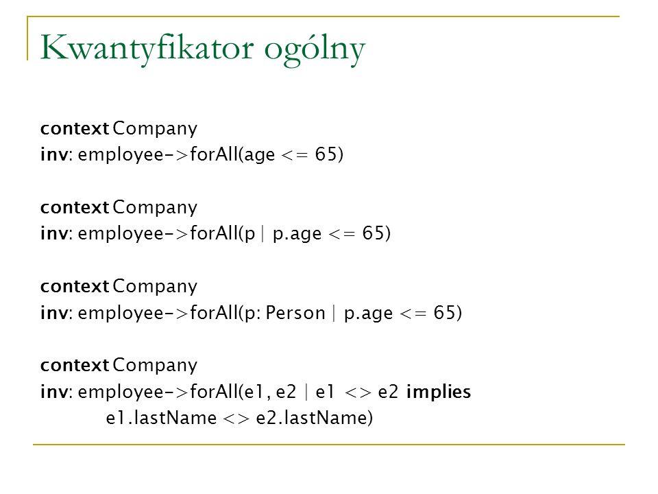 Kwantyfikator ogólny context Company