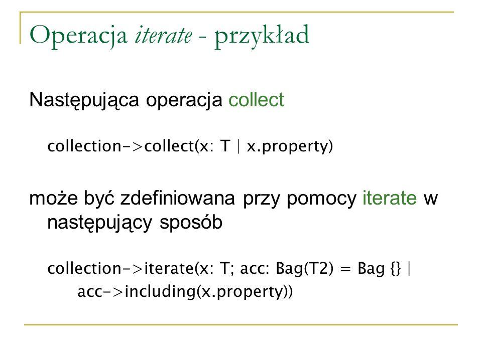 Operacja iterate - przykład