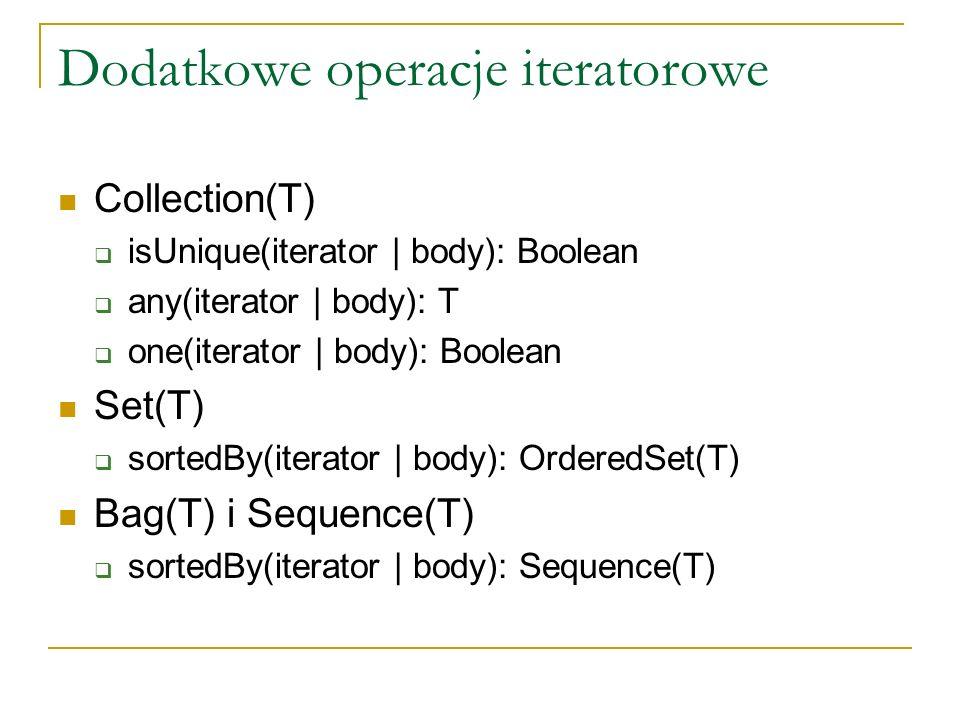 Dodatkowe operacje iteratorowe