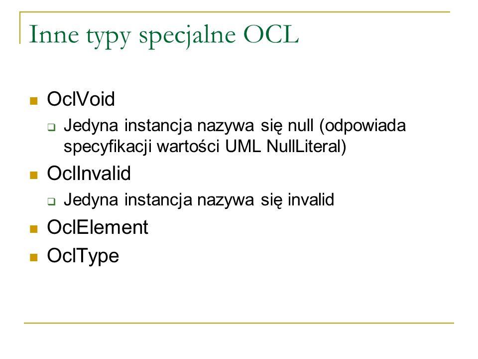 Inne typy specjalne OCL