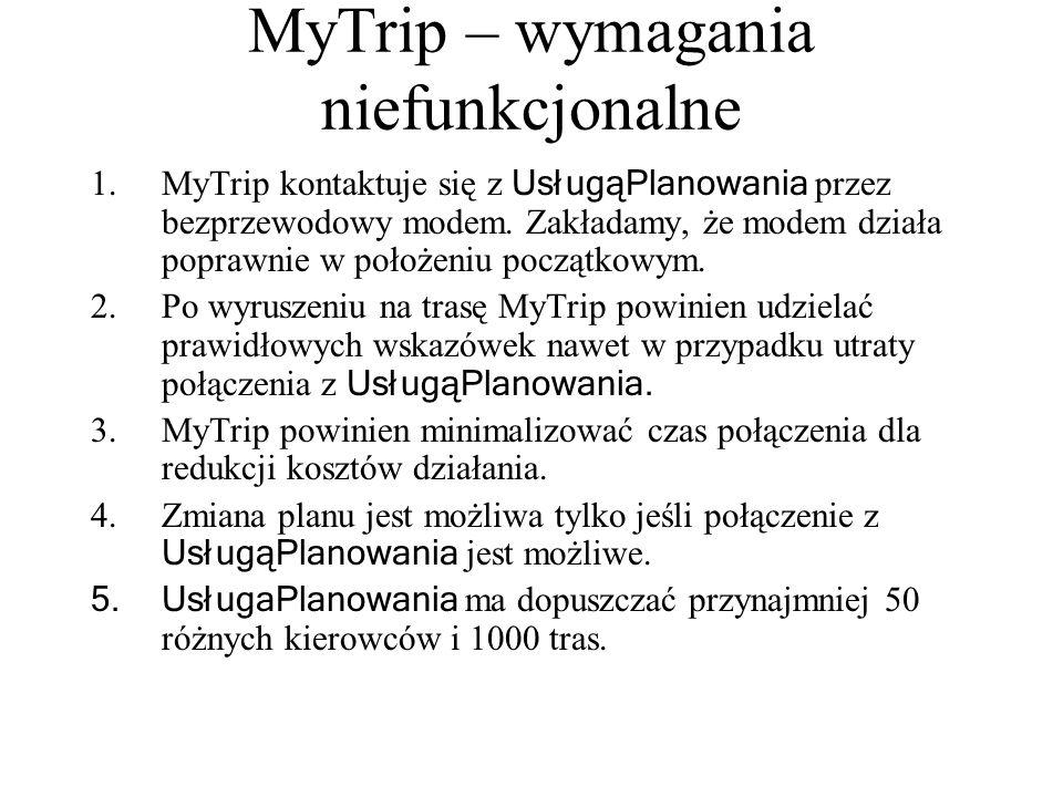 MyTrip – wymagania niefunkcjonalne