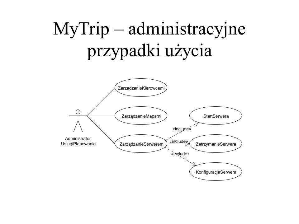 MyTrip – administracyjne przypadki użycia