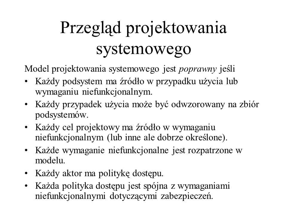 Przegląd projektowania systemowego