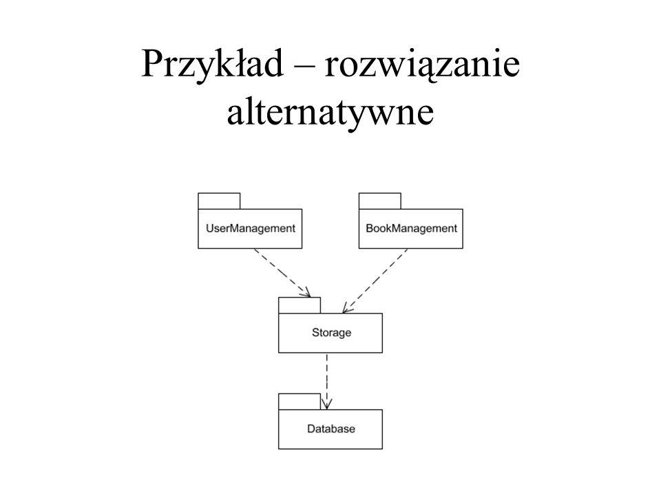 Przykład – rozwiązanie alternatywne