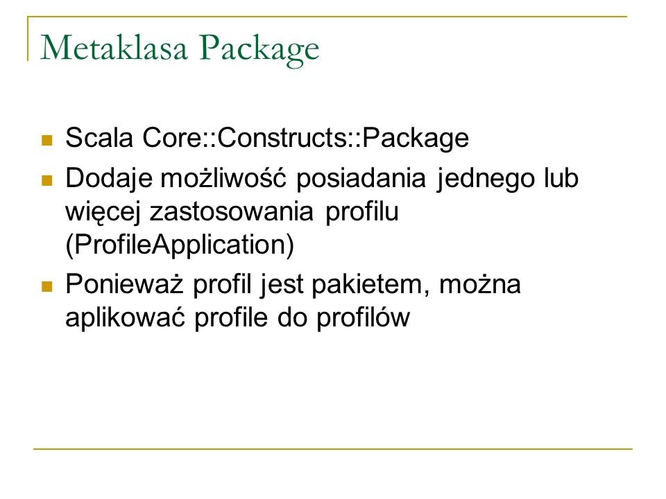 Metaklasa Package Scala Core::Constructs::Package