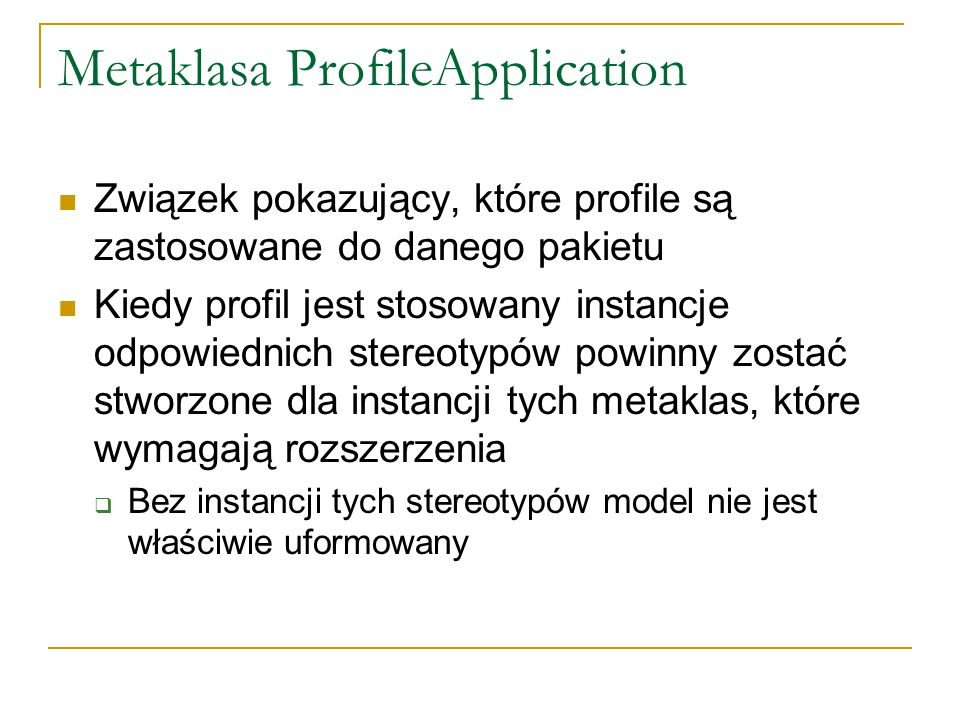 Metaklasa ProfileApplication