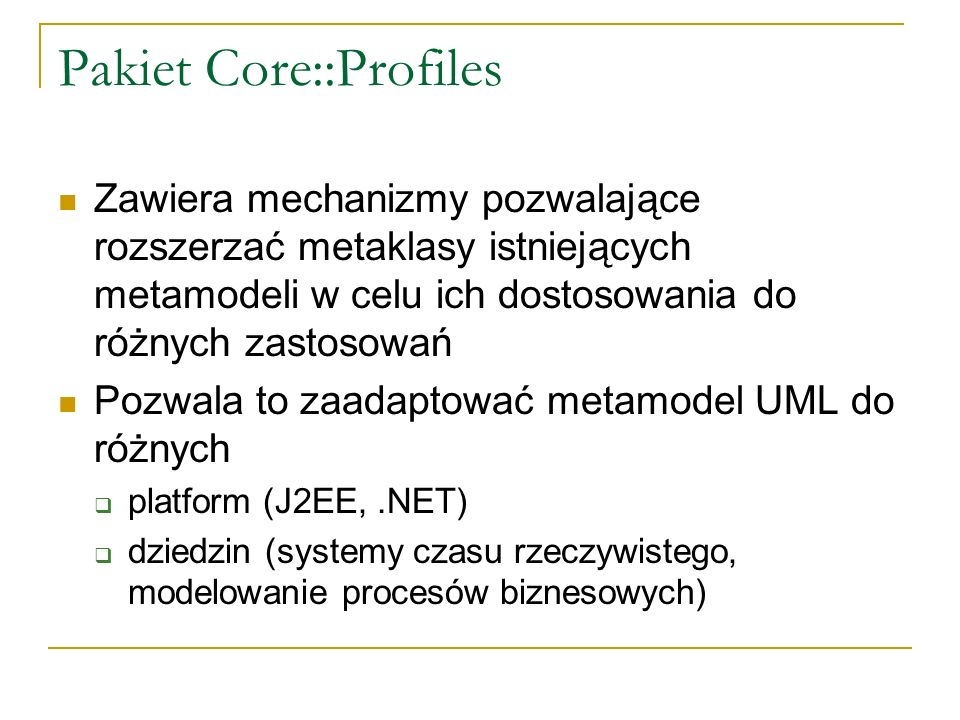 Pakiet Core::Profiles