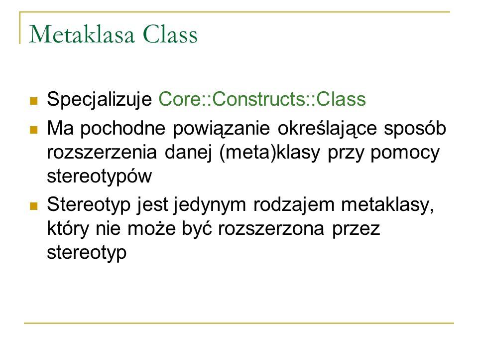 Metaklasa Class Specjalizuje Core::Constructs::Class