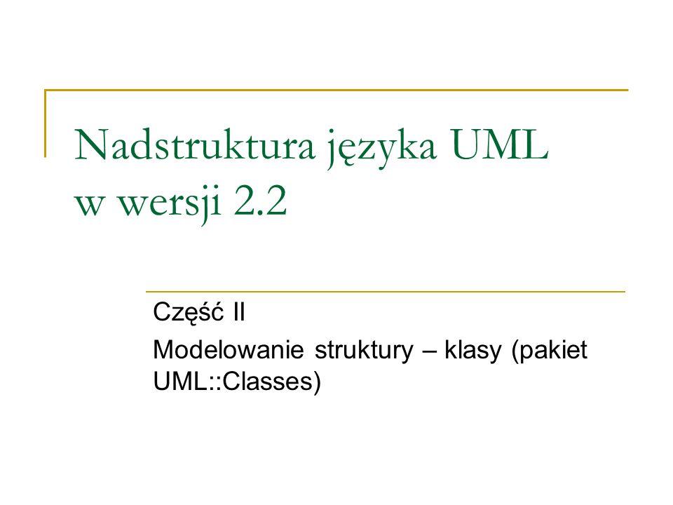 Nadstruktura języka UML w wersji 2.2
