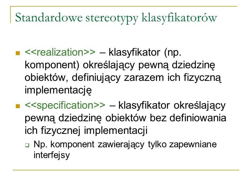 Standardowe stereotypy klasyfikatorów
