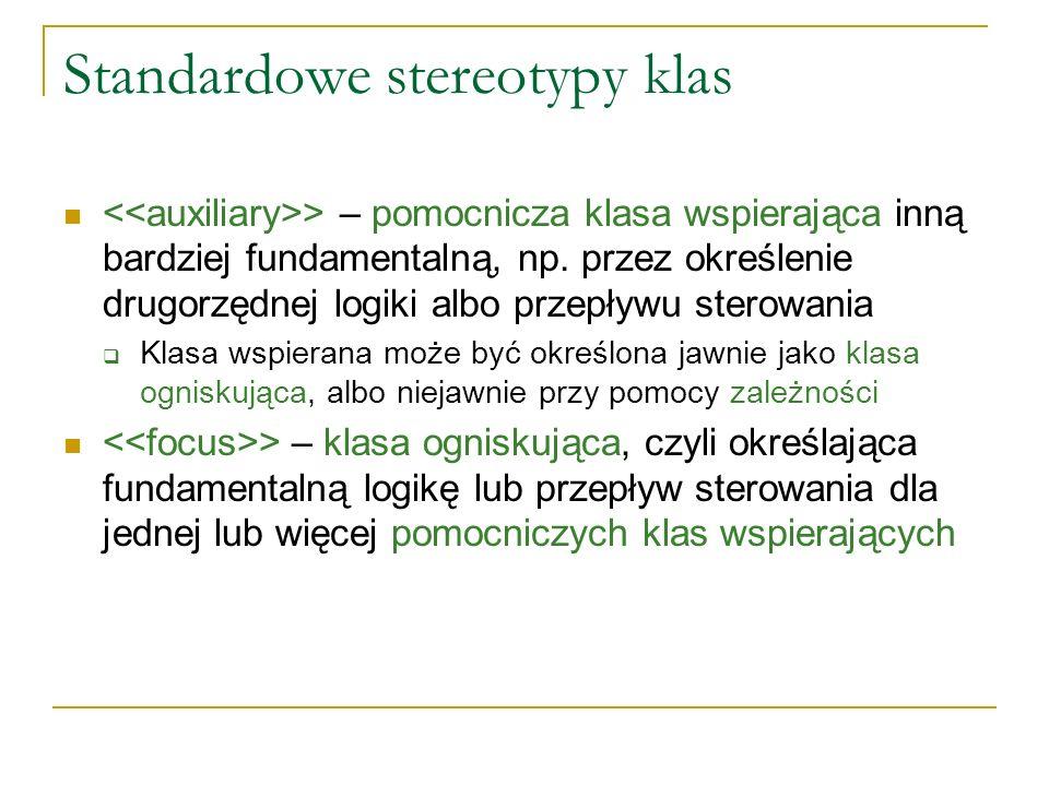 Standardowe stereotypy klas