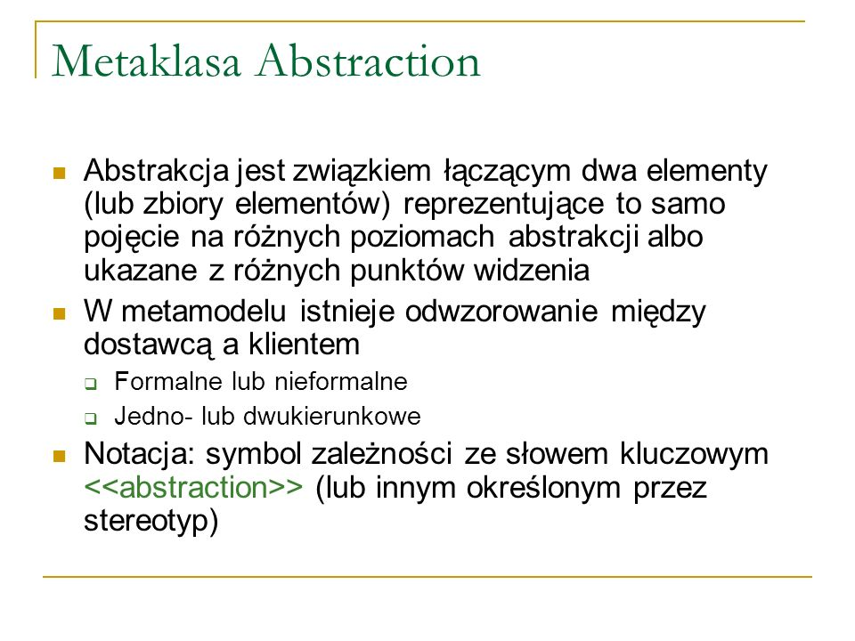 Metaklasa Abstraction