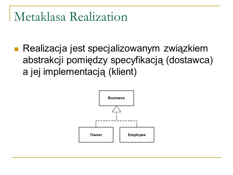 Metaklasa Realization