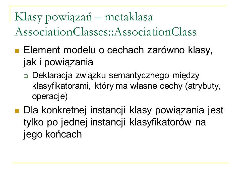 Klasy powiązań – metaklasa AssociationClasses::AssociationClass