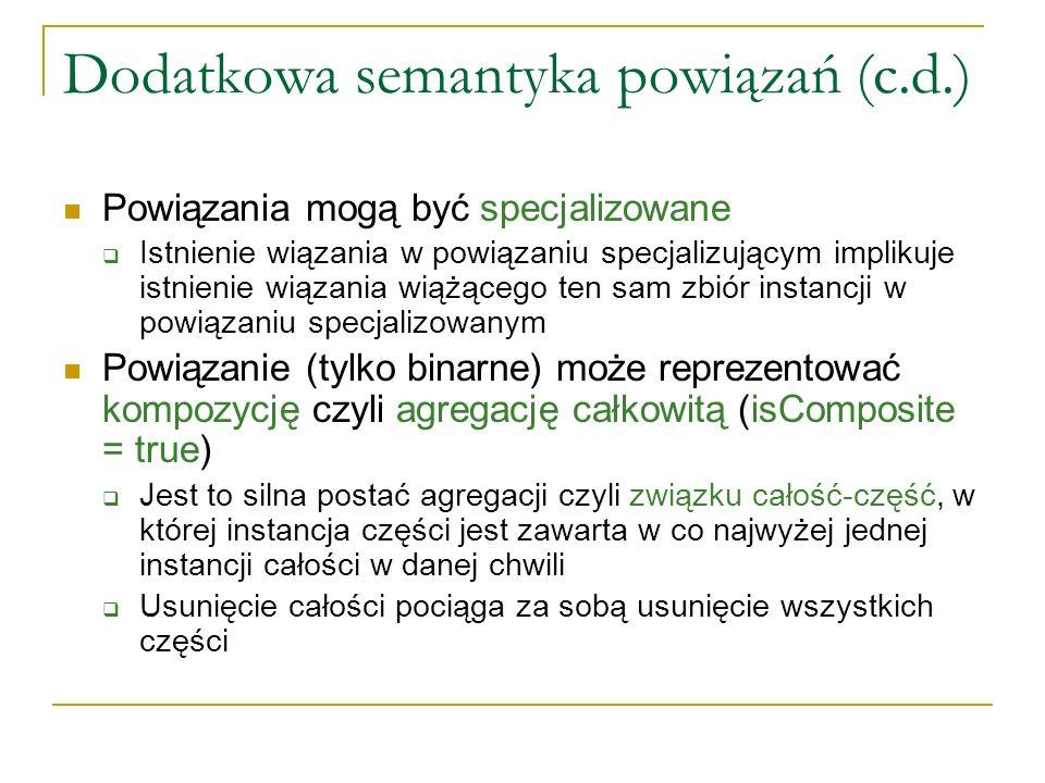 Dodatkowa semantyka powiązań (c.d.)