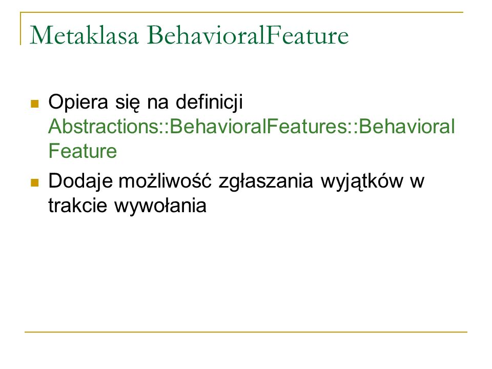 Metaklasa BehavioralFeature