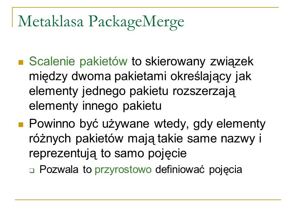 Metaklasa PackageMerge