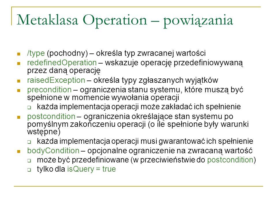 Metaklasa Operation – powiązania