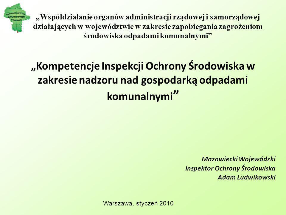 Mazowiecki Wojewódzki Inspektor Ochrony Środowiska Adam Ludwikowski