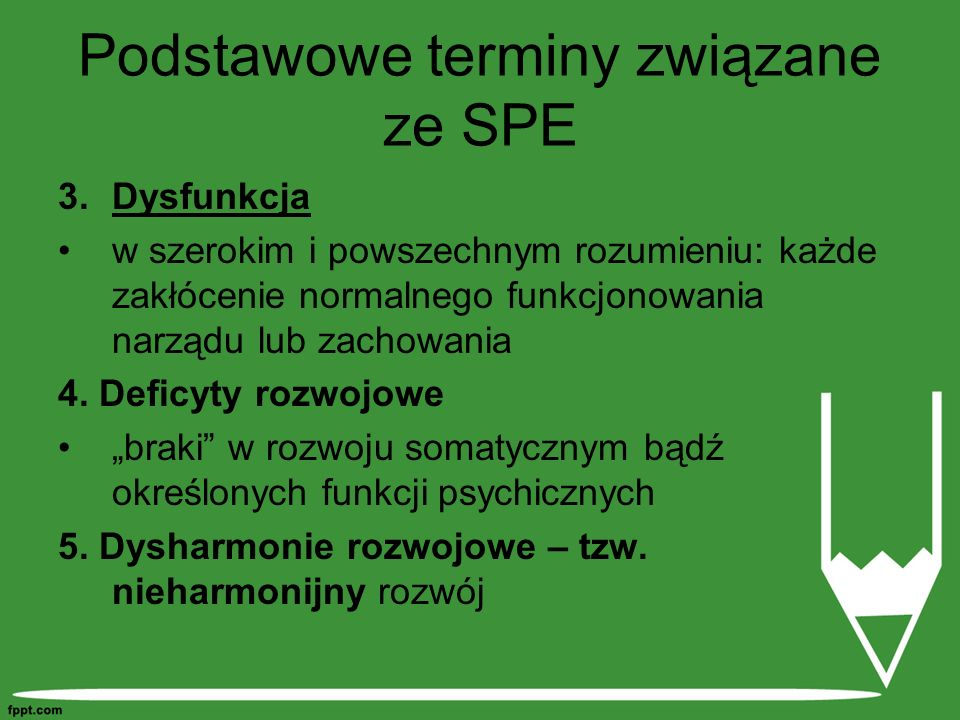 Podstawowe terminy związane ze SPE