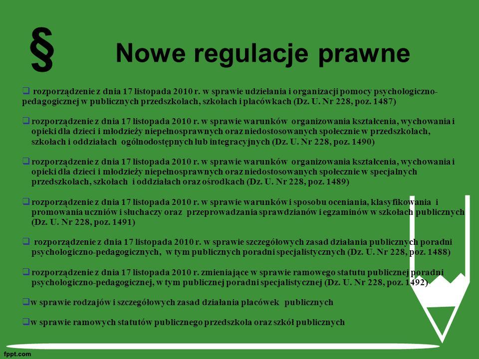 § Nowe regulacje prawne