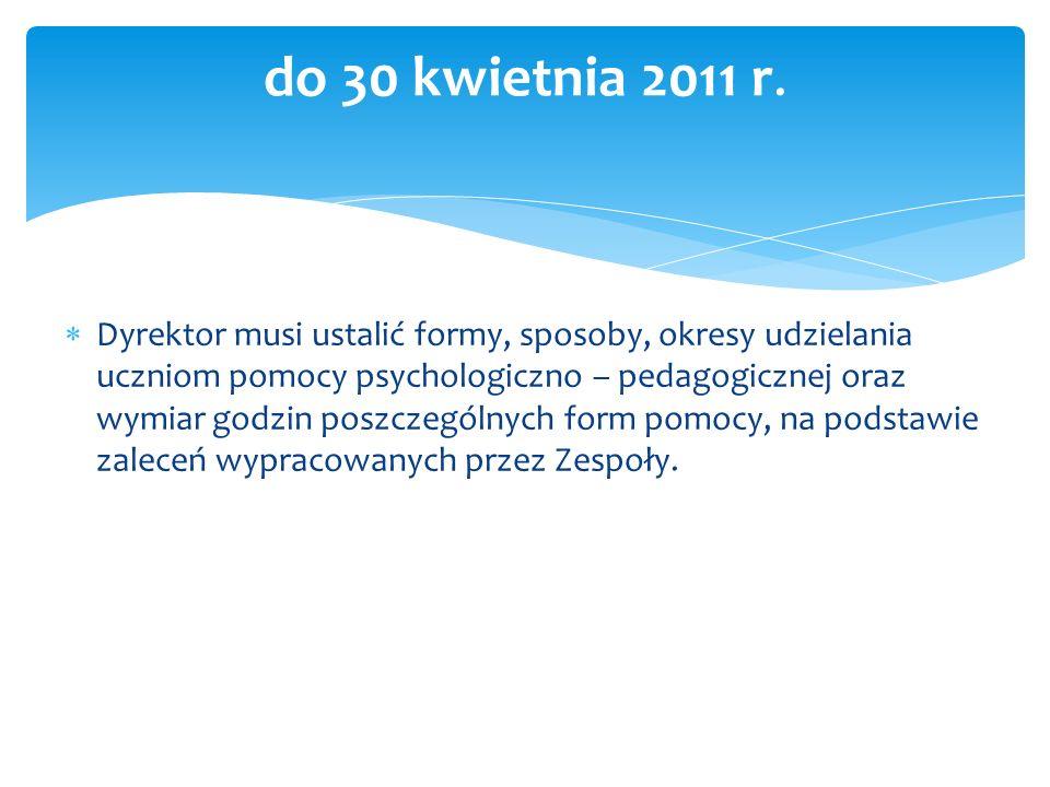 do 30 kwietnia 2011 r.
