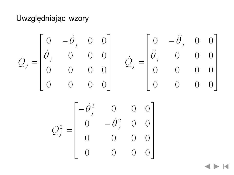 Uwzględniając wzory
