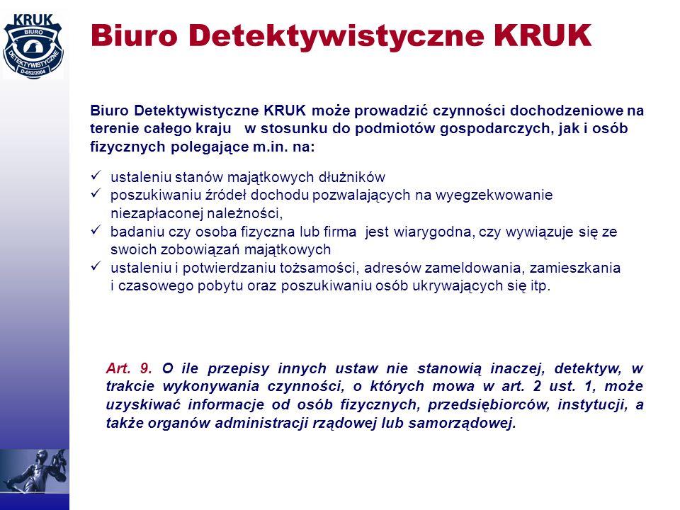 Biuro Detektywistyczne KRUK