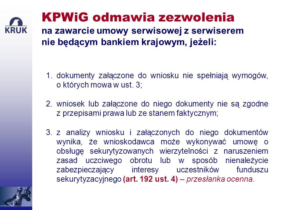 KPWiG odmawia zezwolenia