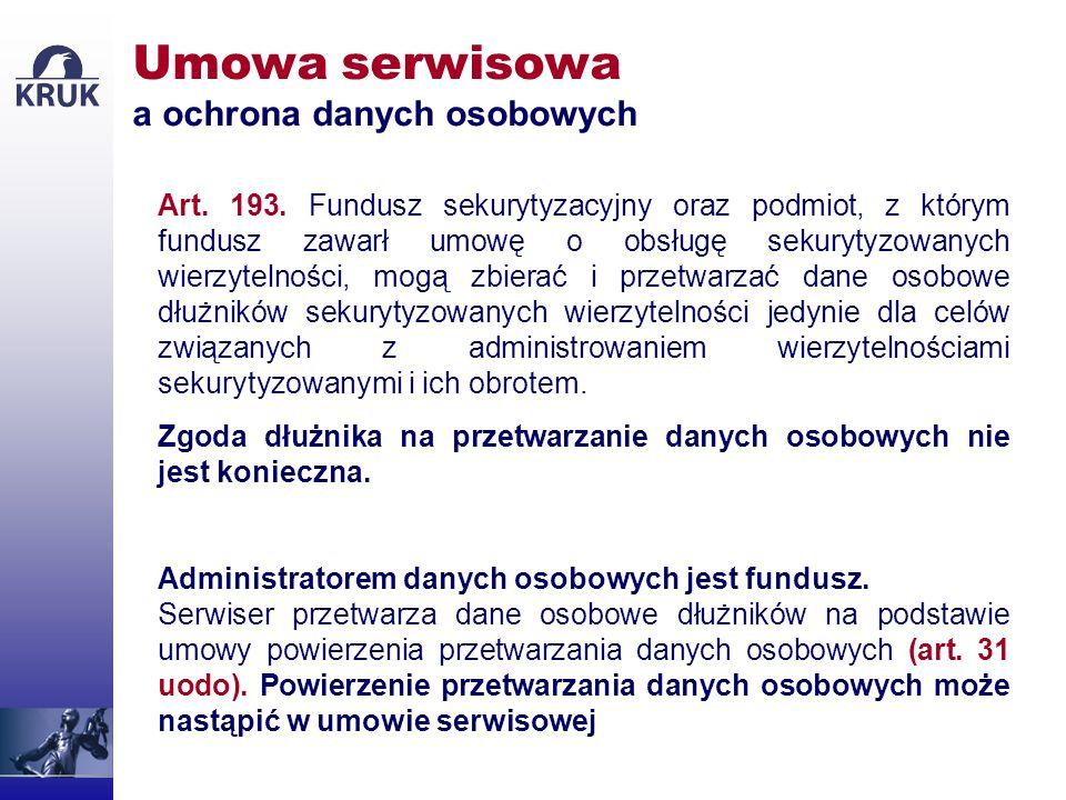 Umowa serwisowa a ochrona danych osobowych