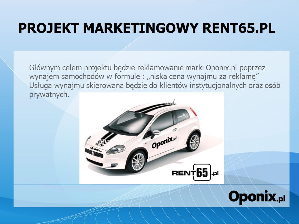 PROJEKT MARKETINGOWY RENT65.PL