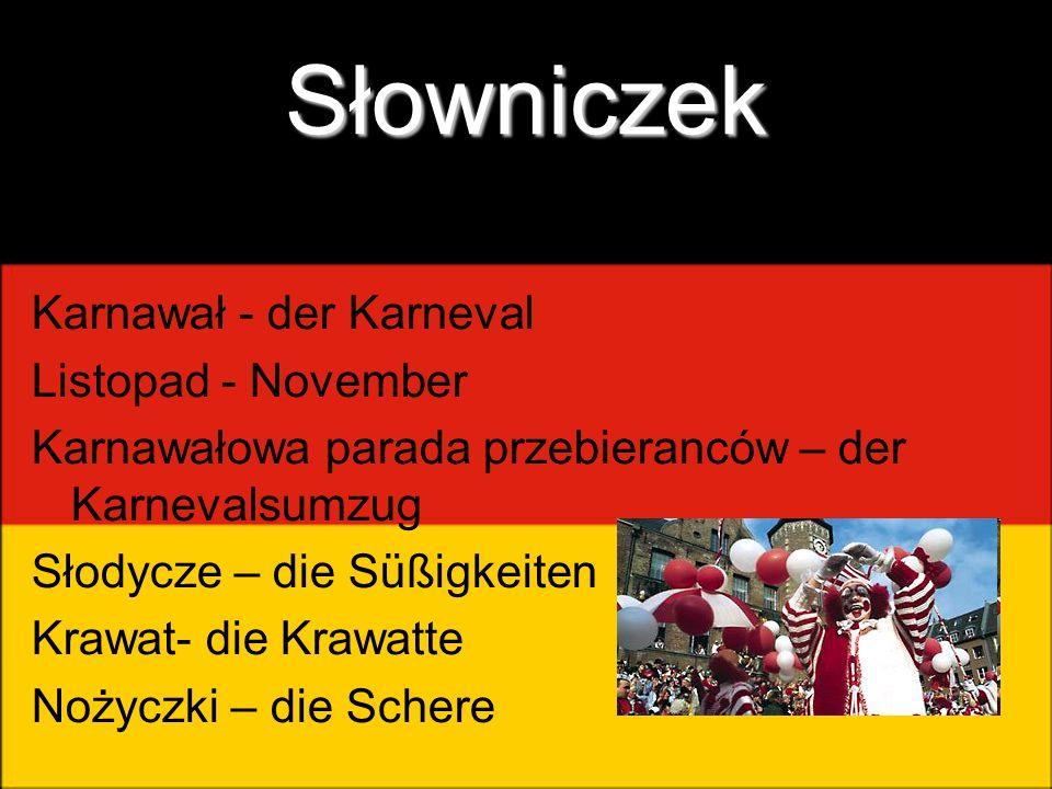 Słowniczek Karnawał - der Karneval Listopad - November