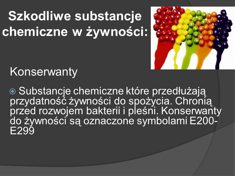 Szkodliwe substancje chemiczne w żywności: