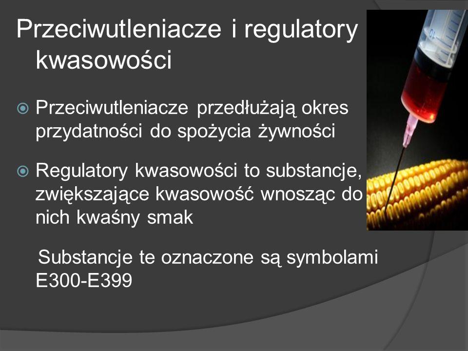 Przeciwutleniacze i regulatory kwasowości