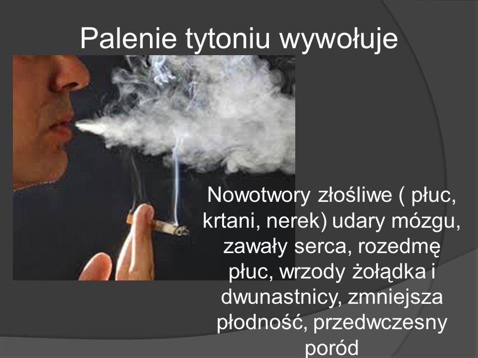 Palenie tytoniu wywołuje