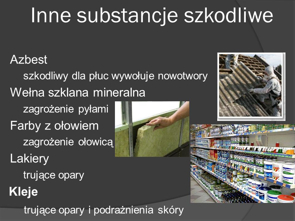 Inne substancje szkodliwe