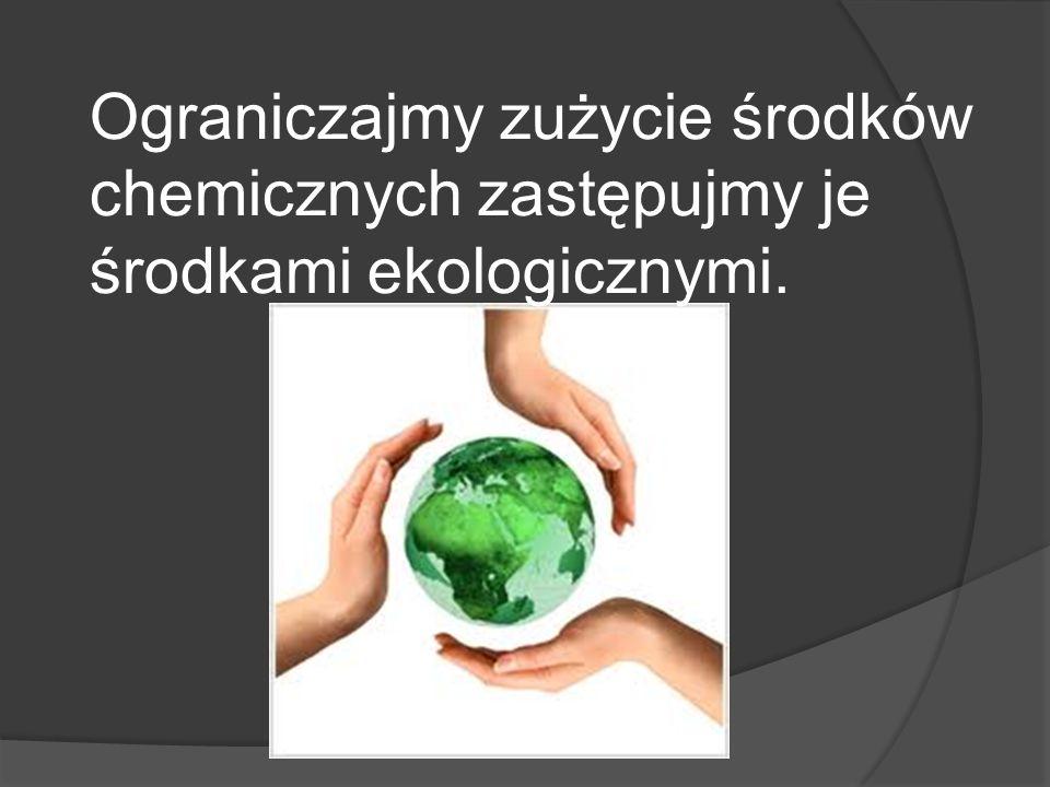 Ograniczajmy zużycie środków chemicznych zastępujmy je środkami ekologicznymi.