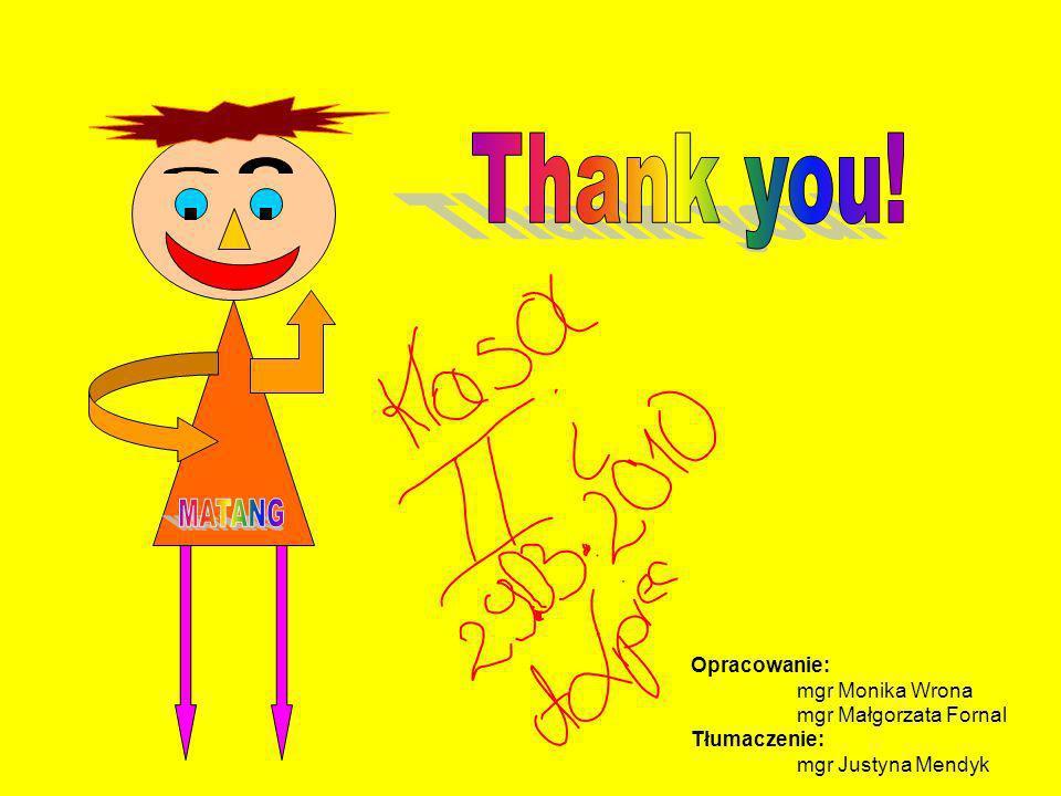 Thank you! MATANG Opracowanie: mgr Monika Wrona mgr Małgorzata Fornal