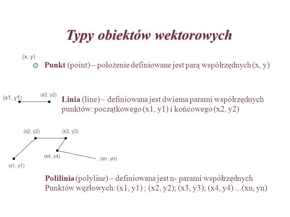 Typy obiektów wektorowych