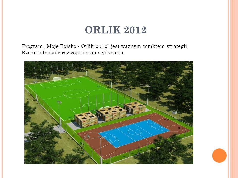 """ORLIK 2012 Program """"Moje Boisko - Orlik 2012 jest ważnym punktem strategii Rządu odnośnie rozwoju i promocji sportu."""