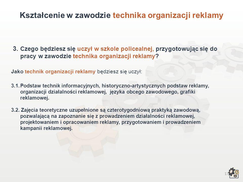 Kształcenie w zawodzie technika organizacji reklamy