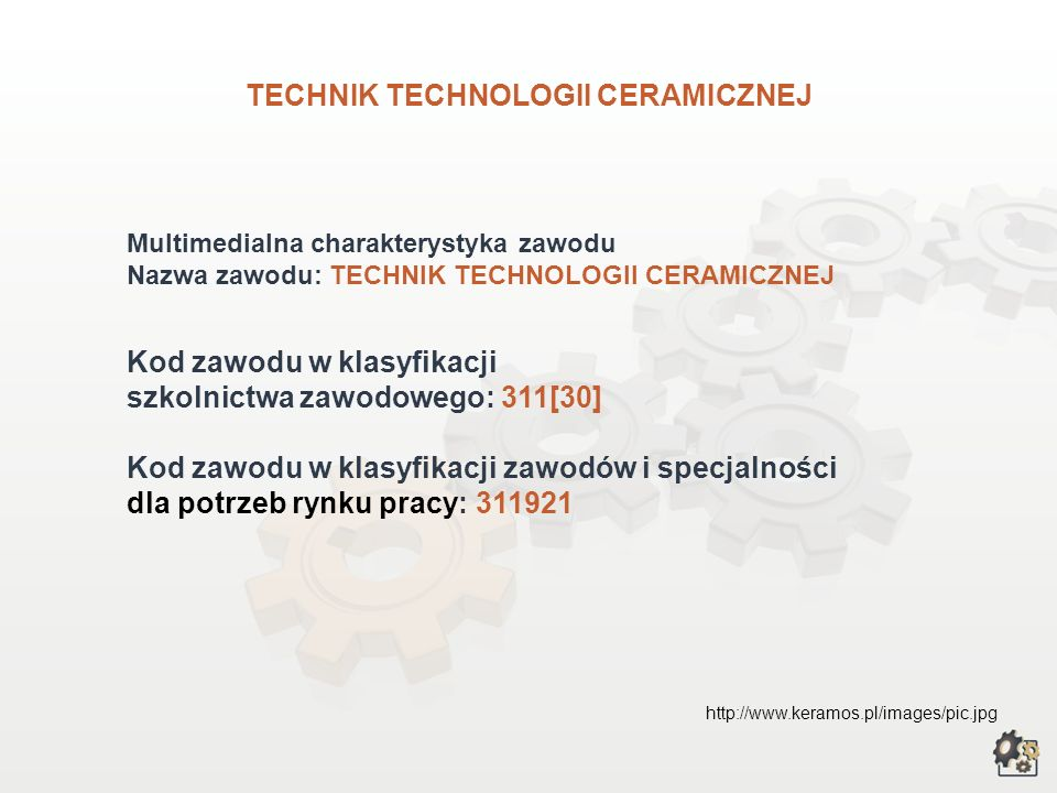 TECHNIK TECHNOLOGII CERAMICZNEJ