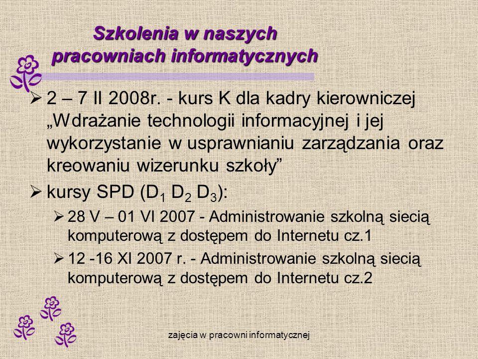 Szkolenia w naszych pracowniach informatycznych