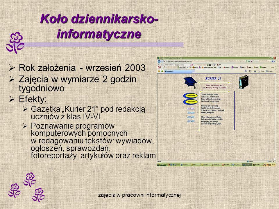 Koło dziennikarsko- informatyczne