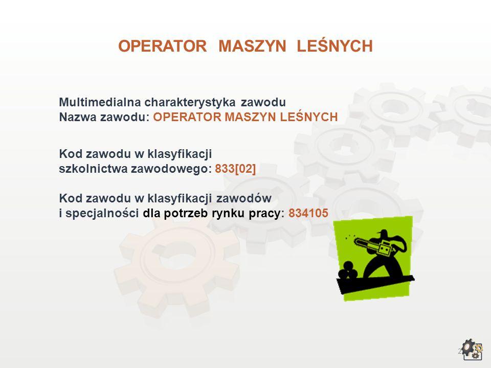 OPERATOR MASZYN LEŚNYCH